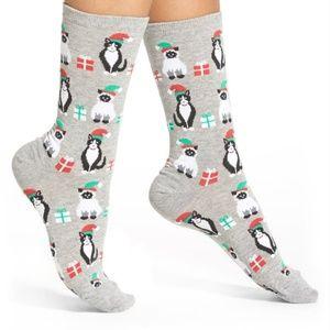 😻 HOT SOX • Christmas Cat Socks (2 Pair) *NWT*